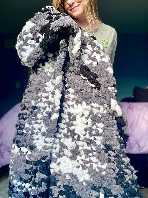 Salt N Pepper Chunky Knit Blanket