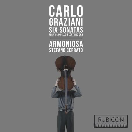 ARMONIOSA mit dem Cellisten Stefano Cerrato veröffentlicht eine Doppel-CD mit Werken von Carlo Grazi