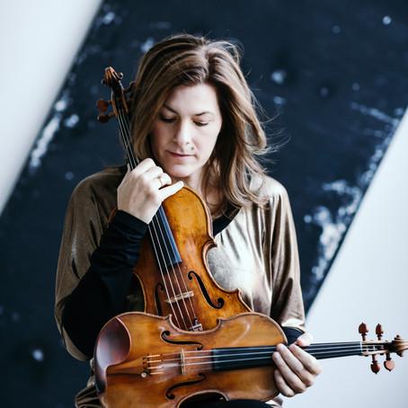 Elisabeth Kufferath mit Tamara Stefanovich am 14. November im Sprengel Museum Hannover