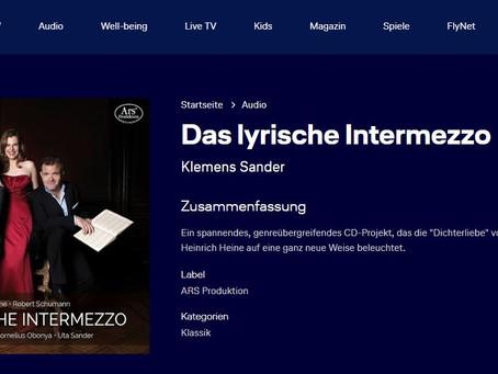 """""""Das lyrische Intermezzo"""" fliegt im Februar Lufthansa und Austrian Airlines."""