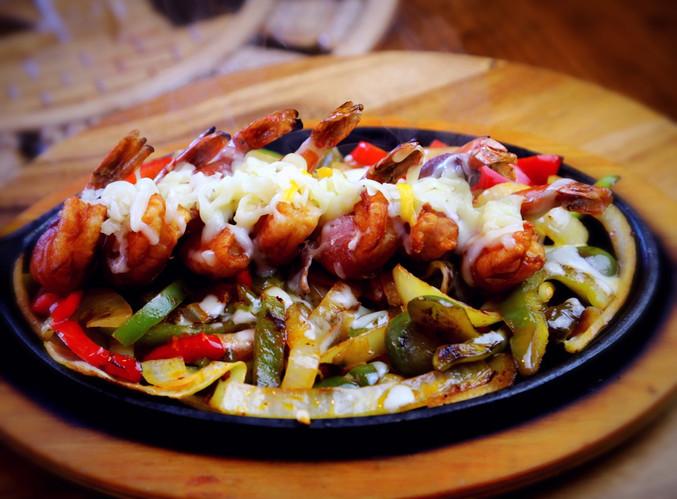 Shrimp Monterrey Fajitas
