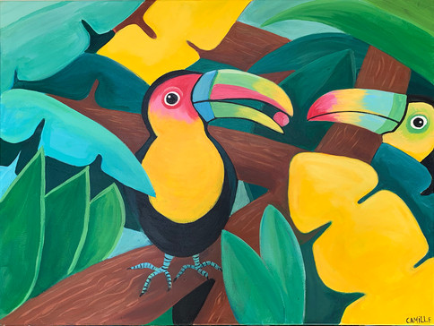 MATHILDE & MATHIEU - 60x80cm - Acrylic on canvas