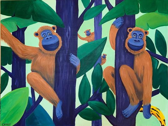 MARTINE & RICHARD - 60x80cm - Acrylic on canvas