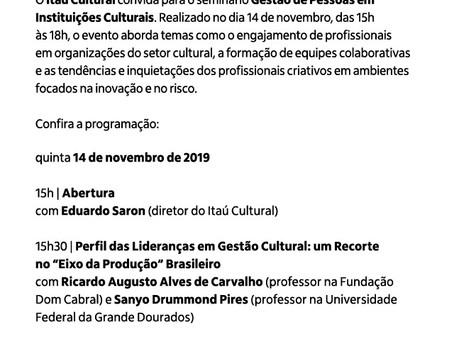 Seminário Gestão de Pessoas em Instituições Culturais - São Paulo