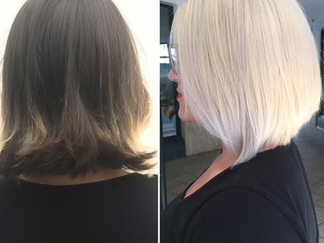 Dark to Blonde Transformation