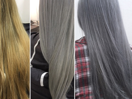 Blonde to Anthrazit Granny Grey