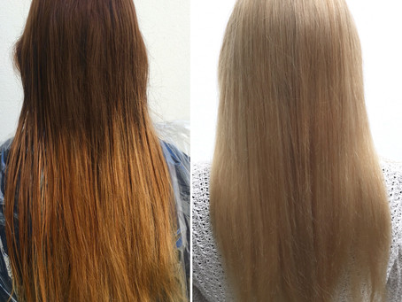 Color Korrektur mit Revlon Blonde Up und Olaplex