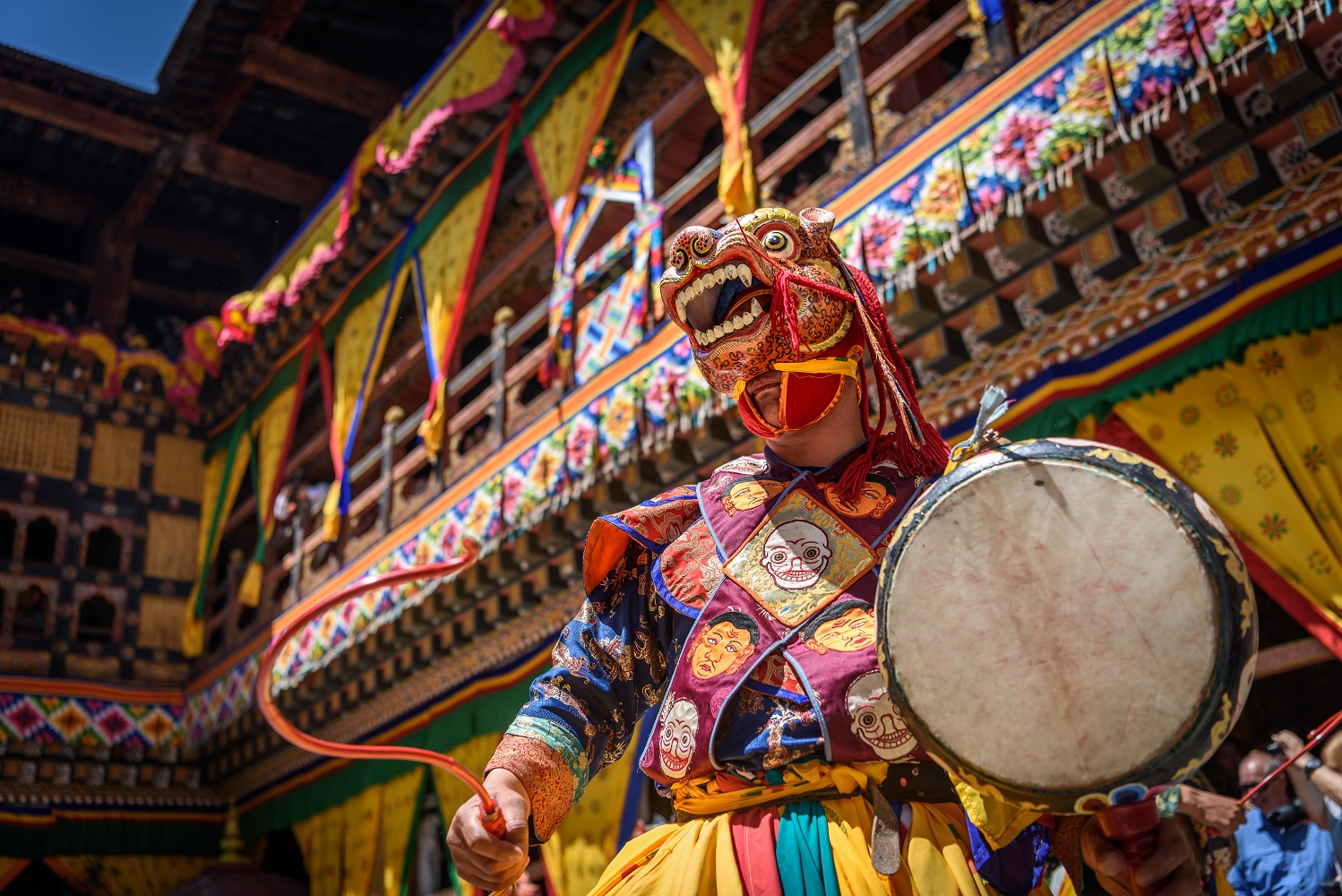 Photo Tour Bhutan Masked Monk Dance
