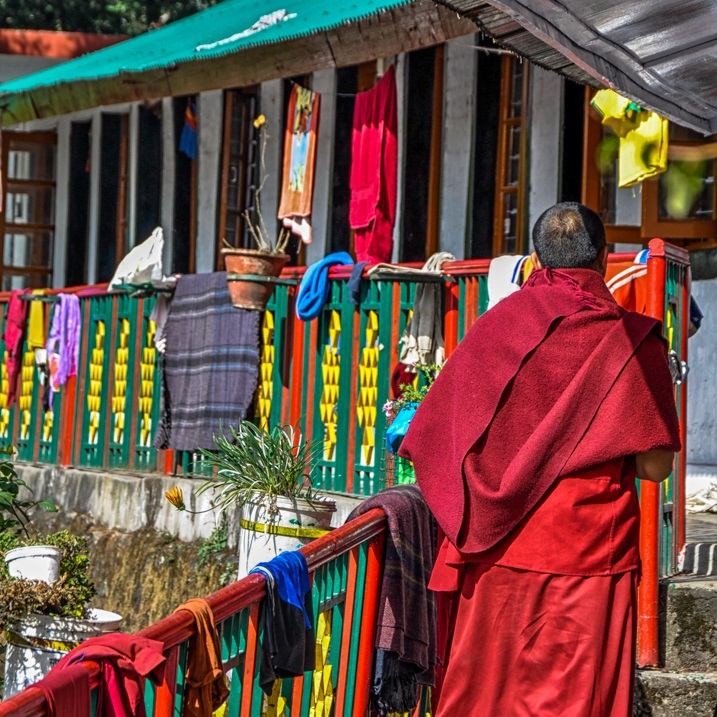 Mcleod-Ganj-Tibetan-Monk
