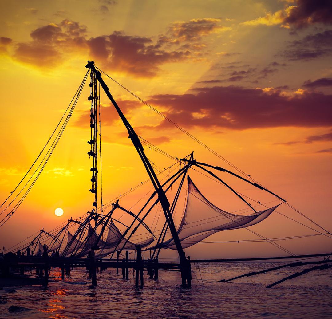 Kochi Fishing Nets at Sunset