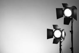 Foto del estudio de las luces
