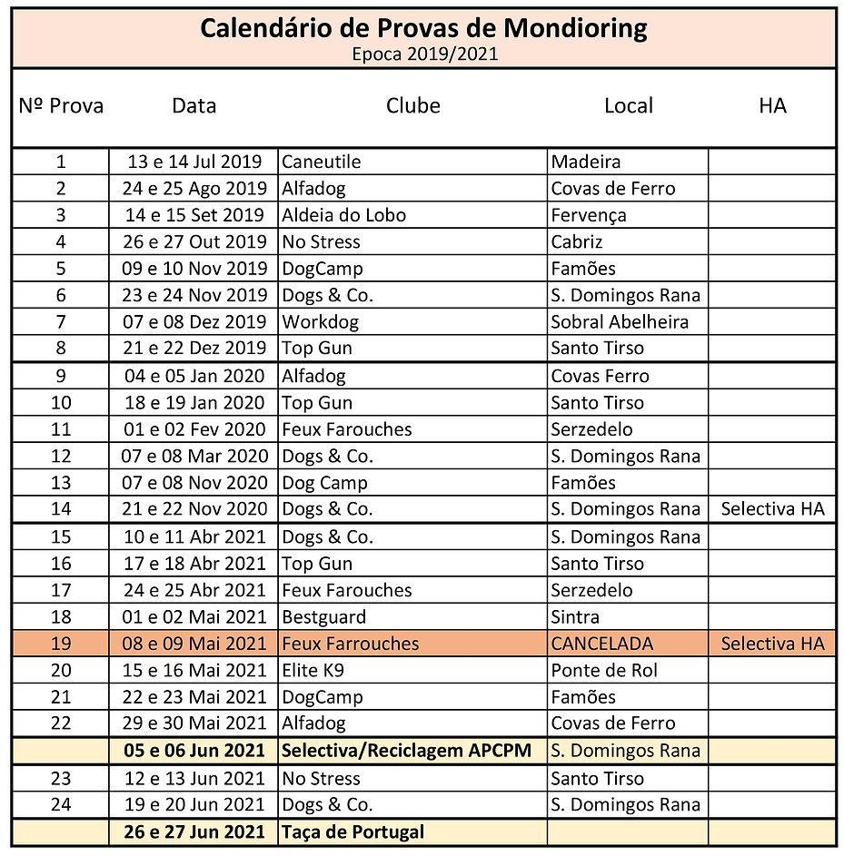 Calendário Provas Época 2019-2021 update