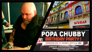 "Concert POPA CHUBBY ""Birthday Party"" au Bataclan...nous y étions ! ;-)"