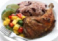 jerk chicken plate, jamaican food.jpg