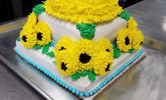 Sunflower Cake & Cookies priced by number of servings