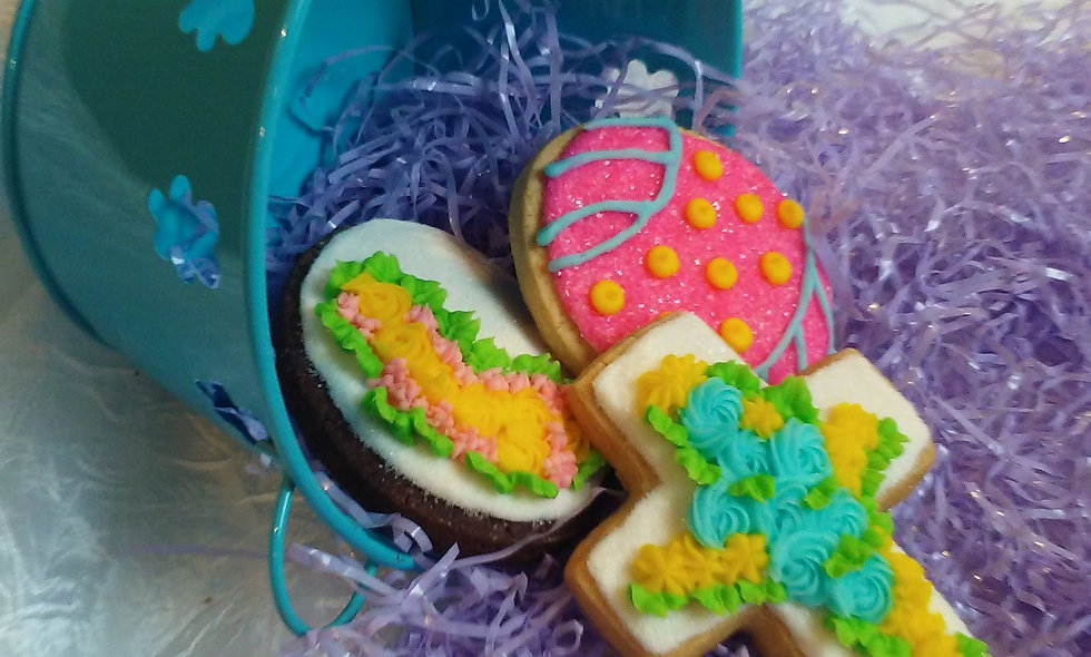 Easter Iced Cut-out Sugar Cookies assorted dozen