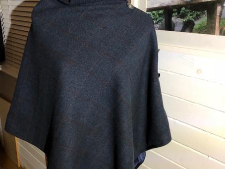 Autumn layers  Introducing the Eriska tweed cape