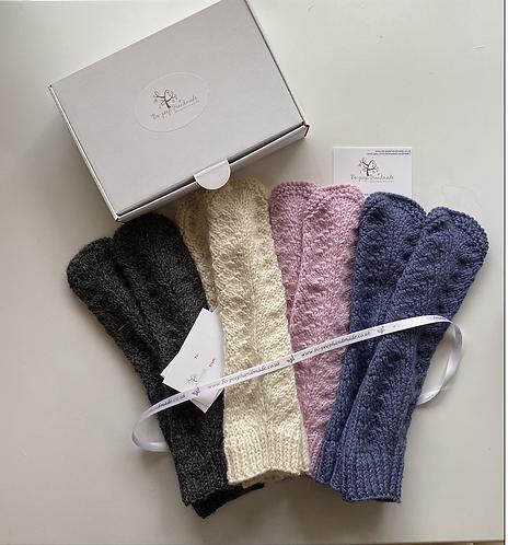 Fingerless Gloves - alpaca & wool