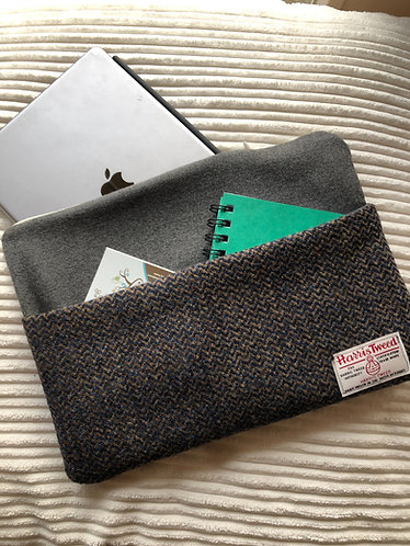 Harris Tweed iPad cover - barleycorn wave weave