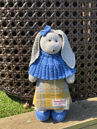 Handmade knitted collectible bunnies