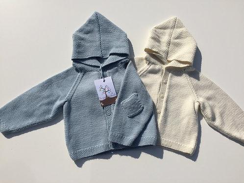 Luxury Cashmere & merino Wool Baby Moss Stitch Jacket