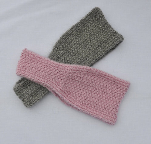 Moss stitch headband