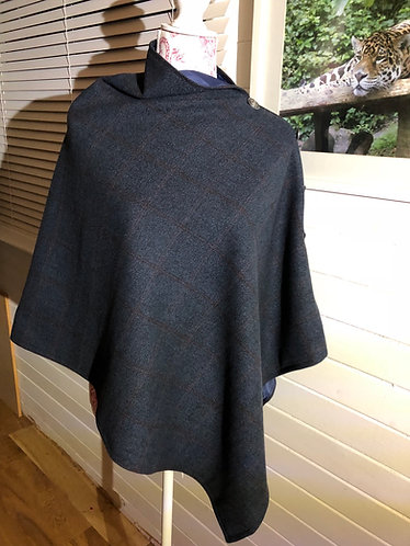 Eriska Tweed Herringbone cape