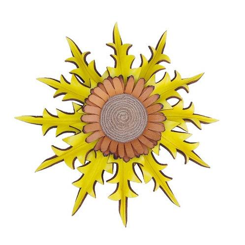 Eguzkilore Cuero Colgar 2 Amarillo