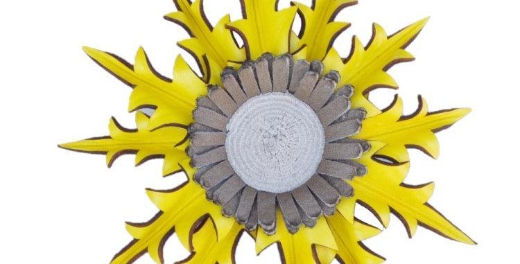 Eguzkilore Cuero Colgar 1 Amarillo