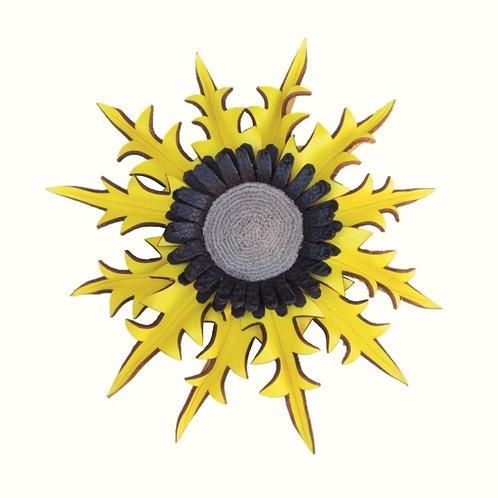 Eguzkilore Cuero Colgar Amarillo