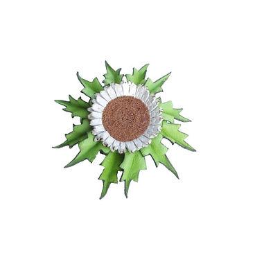 Eguzkilore cuero verde 1 broche.jpg
