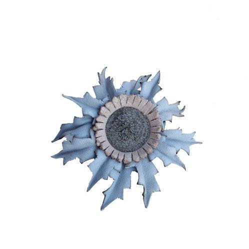 Eguzkilore Cuero Broche Azul