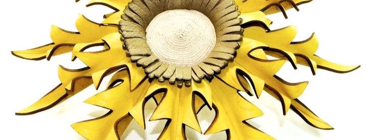 Eguzkilore cuero colgar grande Amarillo
