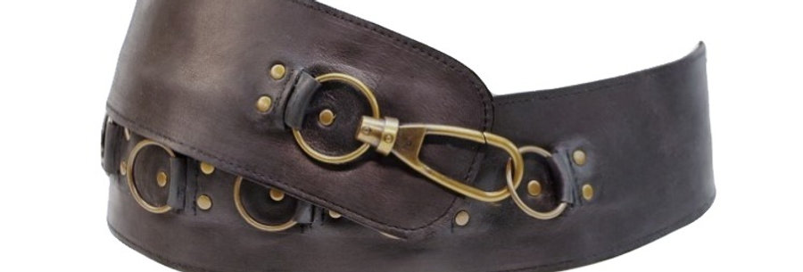Cinturón ancho Piel