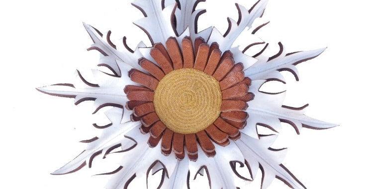 Eguzkilore Cuero Colgar 1 Blanca