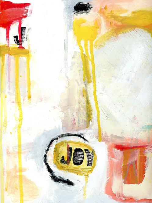 """JOY"" abstract print"