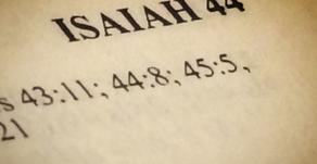 It's Isaiah, then Jesus