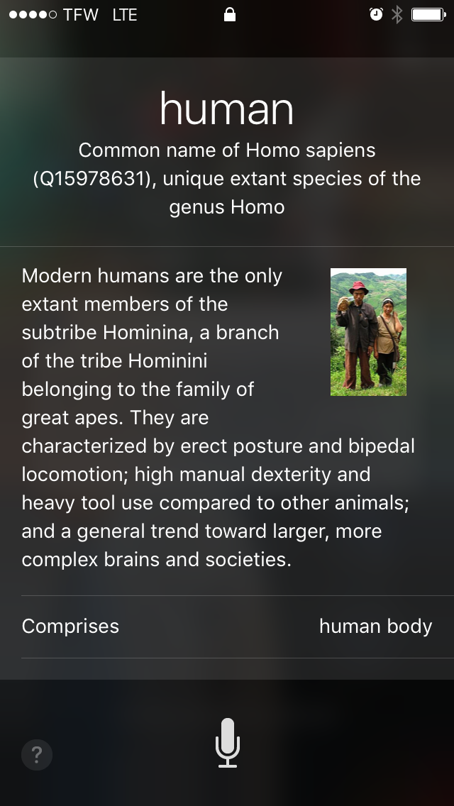 Humans are animals?