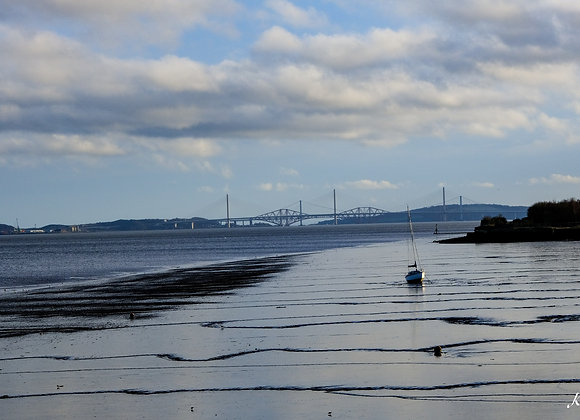 Boat and Bridges on River Forth