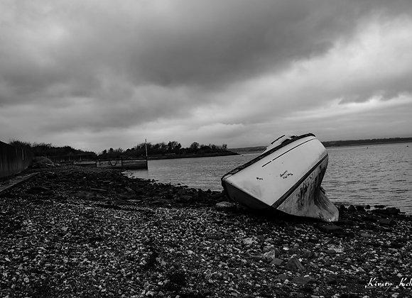 Abandoned Boat On Shore