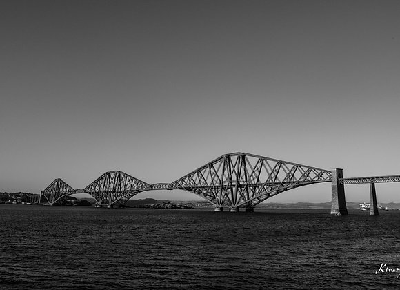 Forth Rail Bridge Monochrome