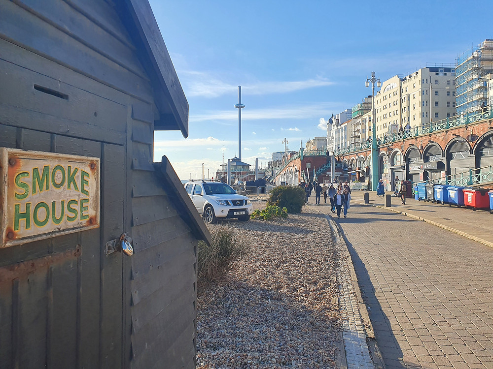 You are seeing the smokehouse in Brighton seafront that was once used by Jack & Linda and will hopefully be used again by Clare.