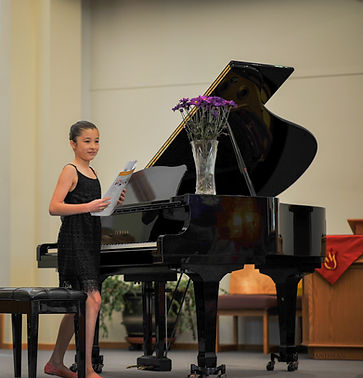 M plays recital Pacific Melody Music
