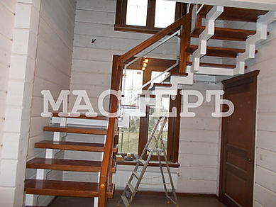 лестница черз две площадки