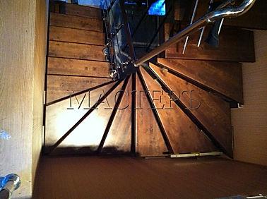 лестница черз 8 забежных ступеней