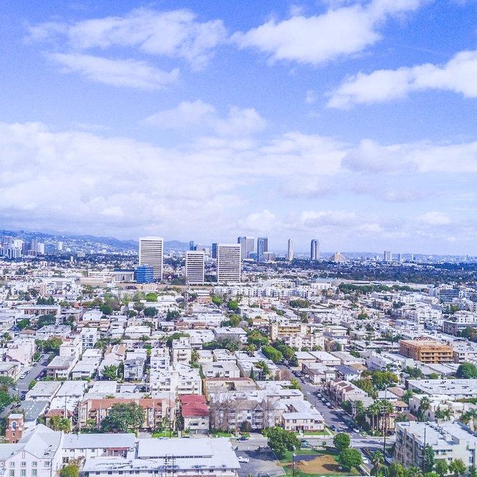 Skyline View of Santa Monica, California