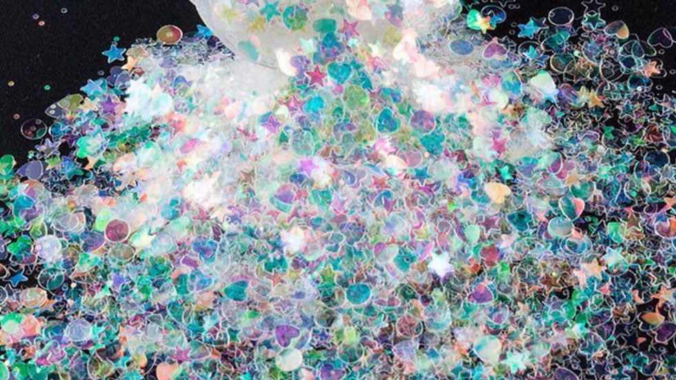 Glitter 1g (1197) Rainbow mix