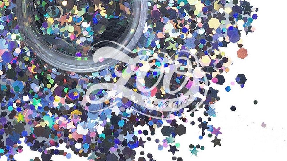 Glitter 1g (1142) Stars & Hexagons
