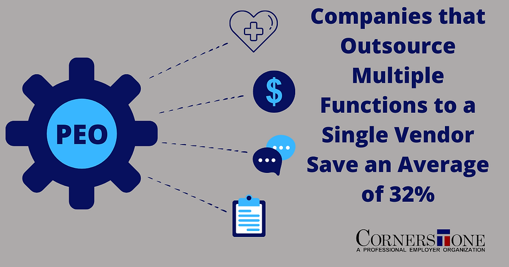 Companies save big by outsourcing multiple functions to a single vendor