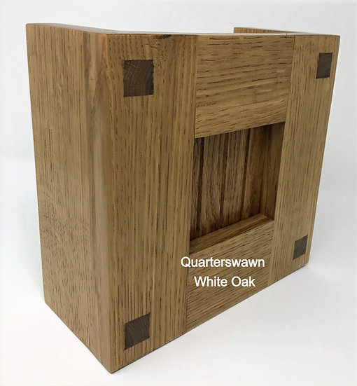 Mission Style Wood Doorbell Chime Cover (Quartersawn White Oak)
